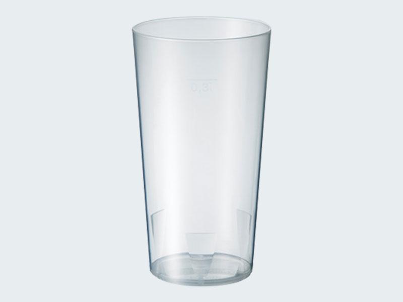 Mehrweg-Becher transparent 0,5l
