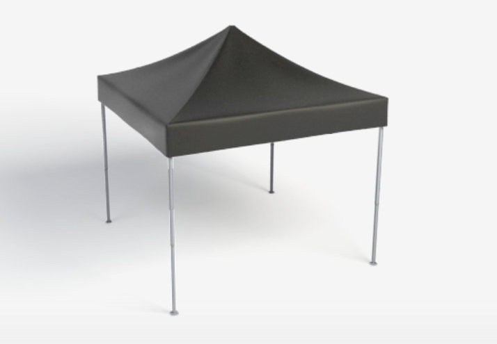 Faltpavillion 3x3m Schwarz